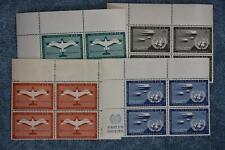 1951 First Airmails Inscription Block Set - C1-C4 - MNH