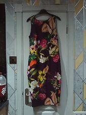 NEXT -Gorgeous plum floral bodycon zip back dress size 12 bnwts