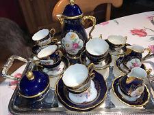 service Lindner Bavaria Cobalt café Vintage 9 Tasses