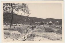 (F19080) Orig. Foto Baustelle Feldbahn, Männer vom R.A.D.-Lager Dietzhausen 1939