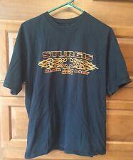 All Sport Vintage T Shirt Men L Black Short Sleeve Sturgis Rally 2001 B403
