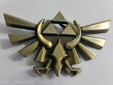 Legend of Zelda Game TRIFORCE Logo Metal BELT BUCKLE Bronze finish cosplay