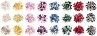 Micro Mini Craft Buttons - Trimits - Heart / Star / Flower - 2.5g Mixed Size