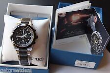 Men's Seiko Chronograph 100M Tachymeter 7T62-0HE0 Stainless Wrist watch