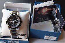 Men's Seiko Chronograph 100M Tachymeter 7T62-0HE0 Stainless Wrist watch