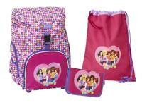 Mädchen Schulranzen 3tlg. Set LEGO Outbag Schulrucksack sehr leicht 1.-5. Klasse