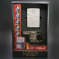 Zippo Lighter Lupin the 3rd GUN ACTION Goemon Metal with Holder from Japan