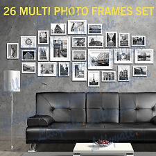 Large Multi Picture Photo Frames Wall Set 13/20/23/26pcs Art Deco Home Gift 26pieces White