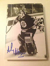Andy Moog SIGNED 4x6 photo BOSTON BRUINS #3