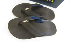 Polo Ralph Lauren Big Boy's Leo Flip Flop Sandals Shoes Size 1 youth  NIB