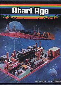 Original 1982 Atari Age Club Video Game Magazine Volume 1 Number 2  2nd Issue