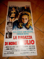 LOCANDINA,La ragazza di nome Giulio 1970,Silvia Dionisio, Tonino Valerii,Moffo