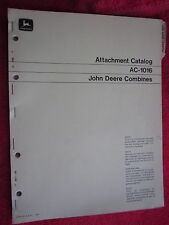 1971-74 JOHN DEERE ATTACHMENTS FOR COMBINES CATALOG