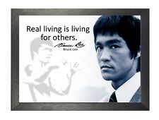 Bruce Lee 50 Hong Kong American Actor Film Director Martial Arts Quote Poster