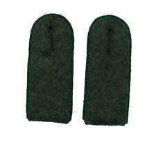 German WW2 Army M43 enlisted ranks shoulder boards.Green piping