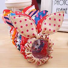 Cute-Flower-8Pcs-Lot-Hair -Rope-Elastic-Rubber-Bands -Headbands-Rabbit-Ear-Dot Cu