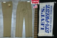 NEW VINTAGE 1970's LEVI'S STA-PREST SLACKS PANTS USA MEN'S 32x34