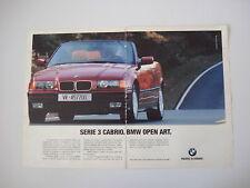 advertising Pubblicità 1993 BMW SERIE 3 CABRIO