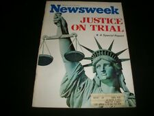 1971 MAR 8 NEWSWEEK MAGAZINE - JUSTICE ON TRIAL - BEAUTIFUL FRONT COVER- A481