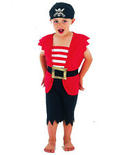 Boys Pirate Boy Toddler Costume for Sailor Buccanneer Fancy Dress Outfit Child
