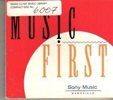 (CD525) Sony Music Nashville, Music First - 1994 DJ CD