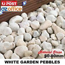 All Natural Stone WHITE Garden Pebbles 5-8cm Cobblestones Landscaping Stones