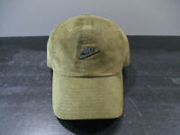 VINTAGE Nike Hat Cap Strap Back Green Gray Corduroy Wotherspoon Mens 90s *