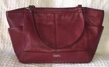 Coach 29898 Crimson Park Carrie Tote Handbag Purse Bag