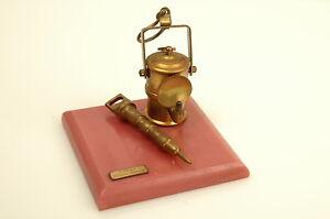 i.c.p.m.n.n. baia mare gears miner drill lamp ornament trophy