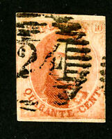 Belgium Stamps # 8 VF Used Scott Value $110.00
