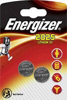 2x Energizer  Lithium 3V Zelle 1x2er Blister CR2025 IEC C Knopfzelle ECR20252