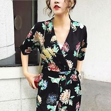 BNWT Zara SS 2017 FLORAL PRINT CROSSOVER JUMPSUIT Playsuit SIZE XS REF 2829/145