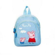 Mochila escolar para guardería Peppa Pig y George, color azul, dibujos animados