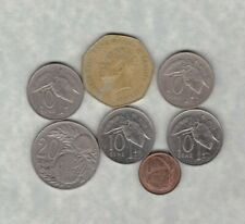 SEVEN SAMOA COINS 1974 TO 2004 IN FINE OR BETTER CONDITION.