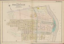 1906 BELLEVILLE, ESSEX COUNTY, NEW JERSEY HILLSIDE PLEASURE PARK, COPY ATLAS MAP