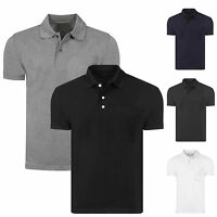 MENS NEW POLO SHIRT PLAIN UNISEX SHORT SLEEVE  PIQUE STYLE CASUAL WORK T SHIRT
