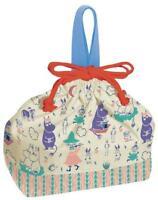 Moomin Valley Lunch Box Bento Bag Drawstring Handbag - Japan