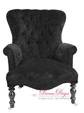 Gorgeous Bespoke Black Velvet Back Nursing Chair