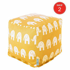 Majestic Home Goods Yellow Ellie Small Cube (Pack of 2)