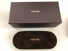 Tom Ford Small Spectacles hard case & Cloth Brown Suede NEW