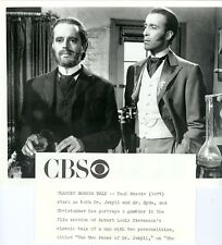 CHRISTOPHER LEE PAUL MASSIE TWO FACES OF DR JEKYLL ORIGINAL 1972 CBS TV PHOTO