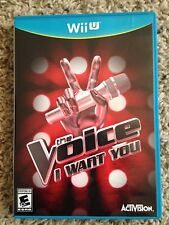 NEW The Voice: I Want You Nintendo Wii U Singing Game *Sealed*