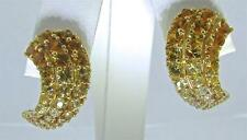 MARK PATTERSON 18 KT. YELLOW GOLD DIAMONDS AND SAPPHIRES EARRINGS