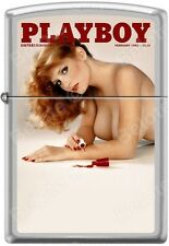 Zippo Playboy February 1982 Cover Satin Chrome Windproof Lighter NEW RARE