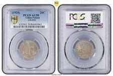 """ Key Date "" AU-50 PCGS 1928 China Fukien Silver 20 Cent Unc Year-17"