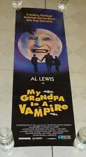 vintage MY GRANDPA IS A VAMPIRE video store advertising poster Al Lewis