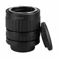 SHOOT Auto Focus AF Macro Extension Tube Set for Nikon D-SLR AF AF-S DX D33 E2I2