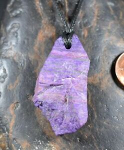 Sugilite gemstone pendant Crystal Necklace