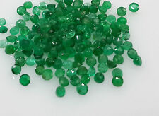 2.2-2.3mm 40pc Lot Natural Loose Green Round Emerald Brazil Non-treated For Sett
