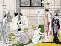 Bathroom Decorations Asian Home Decor Oriental Bath Art 16x21 repro Poster Print